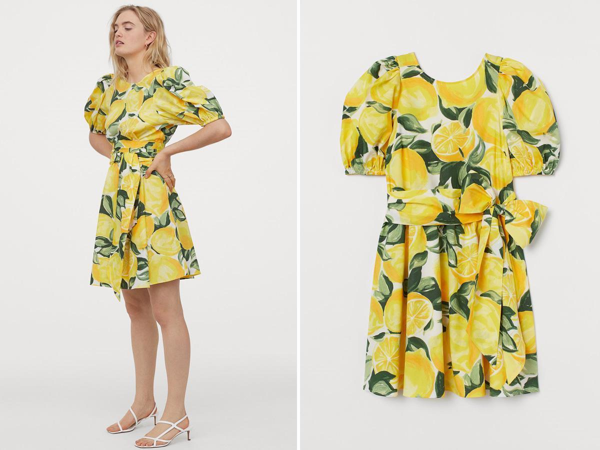 Sukienka w cytryny z H&M