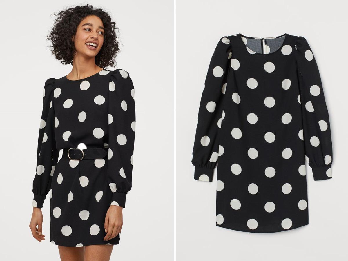 sukienka w grochy H&M