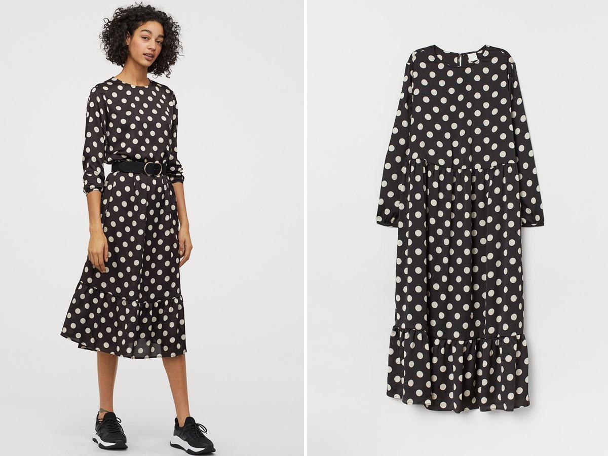 sukienka w grochy z H&M