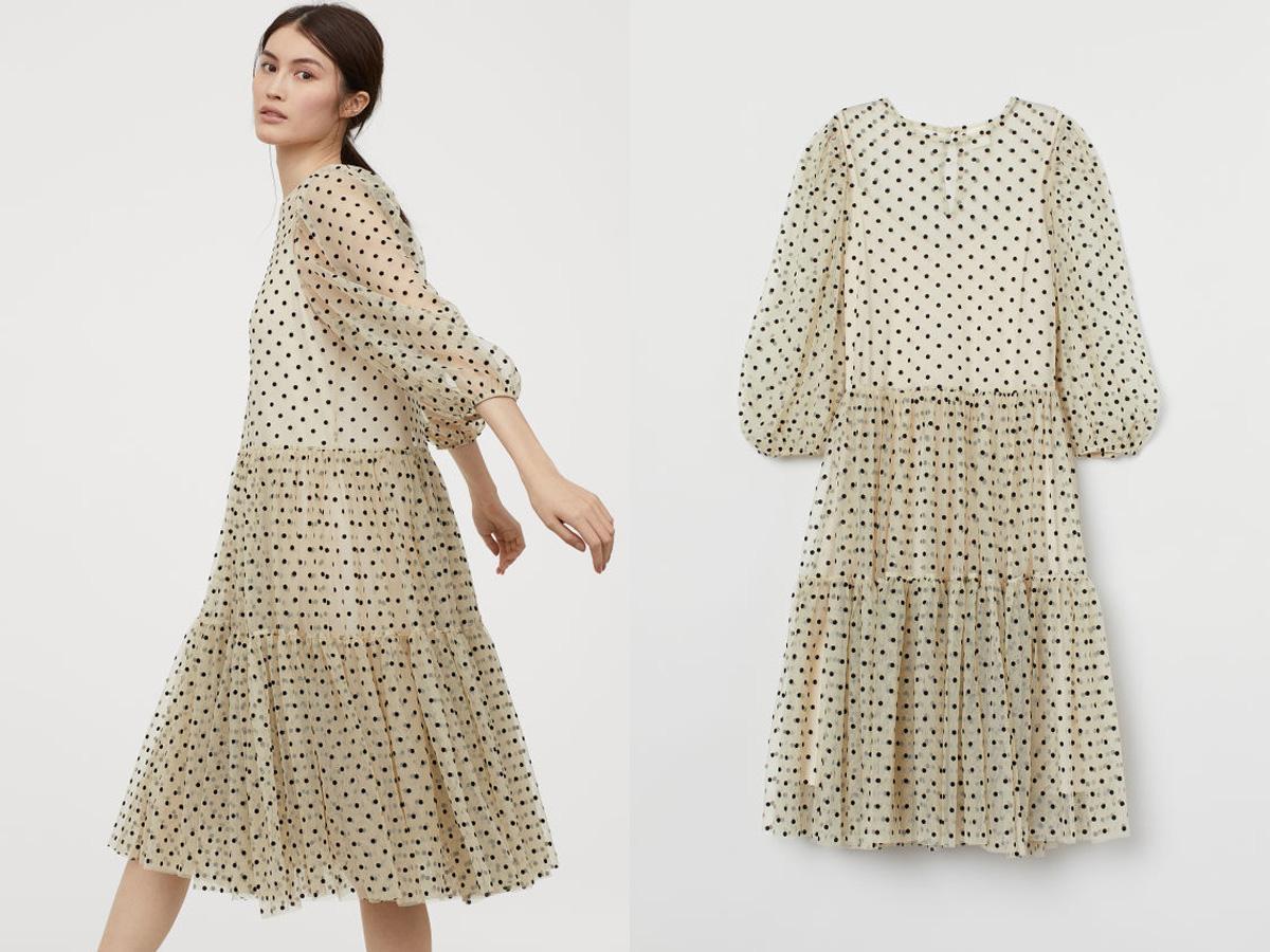 sukienka w groszki z H&M