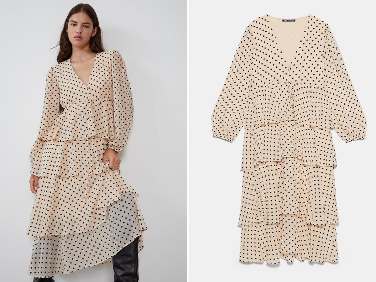 Sukienka w groszki Zara