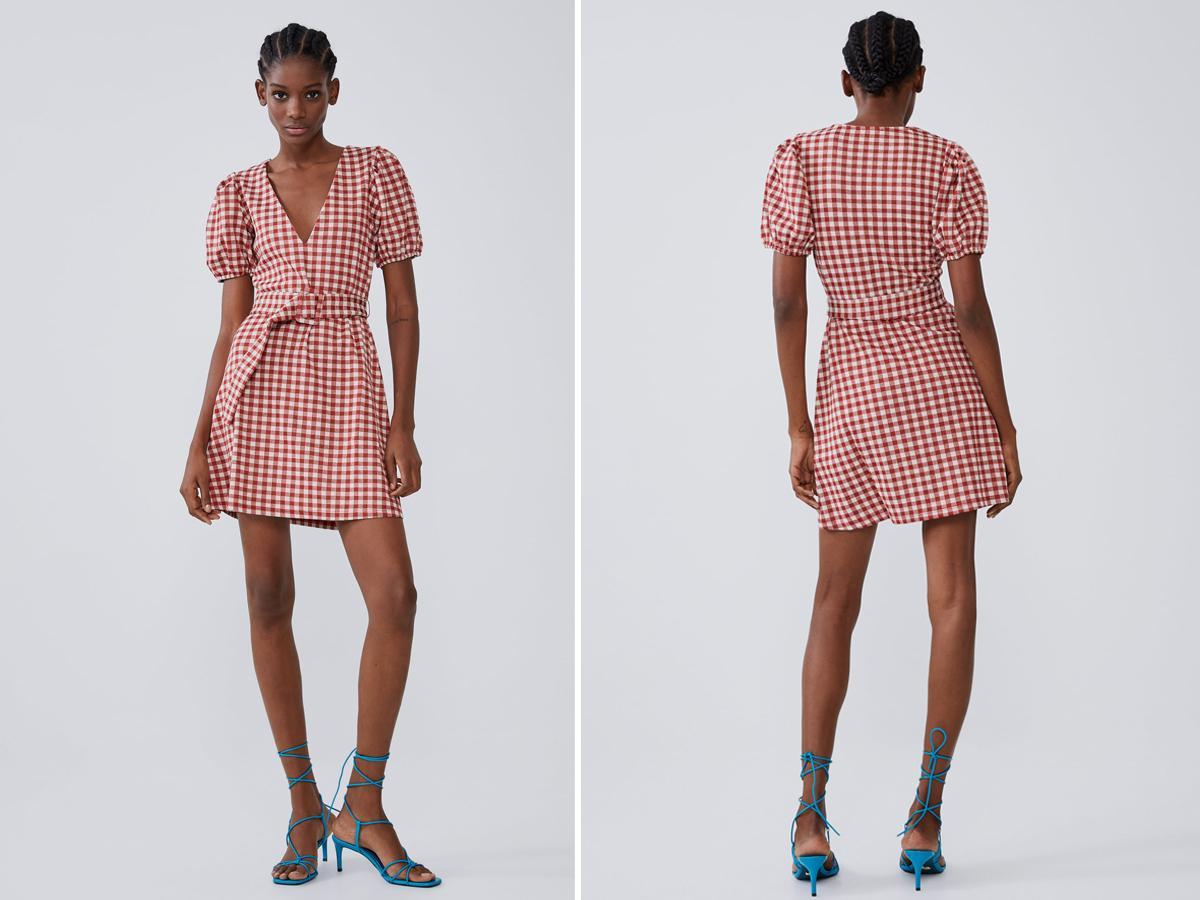 Sukienka w kratę Zara