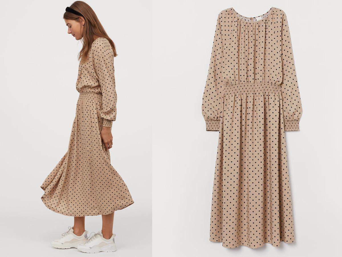 sukienka w kropki z H&M