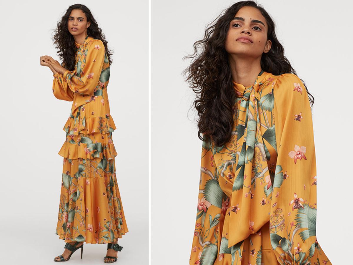 Długa sukienka z H&M