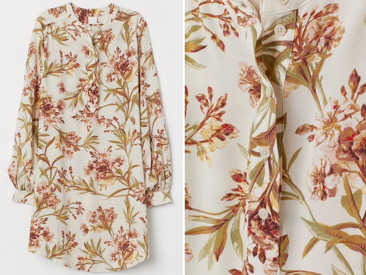 sukienka w kwiaty z H&M