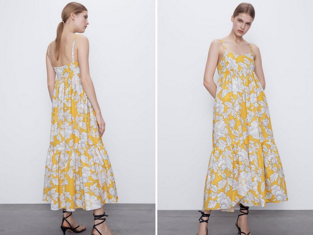 popelinowa sukienka z Zary
