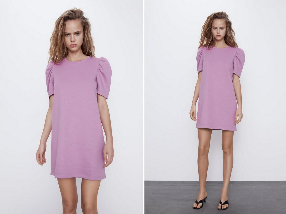 sukienka w najmodniejszym kolorze sezonu w promocji w Zarze