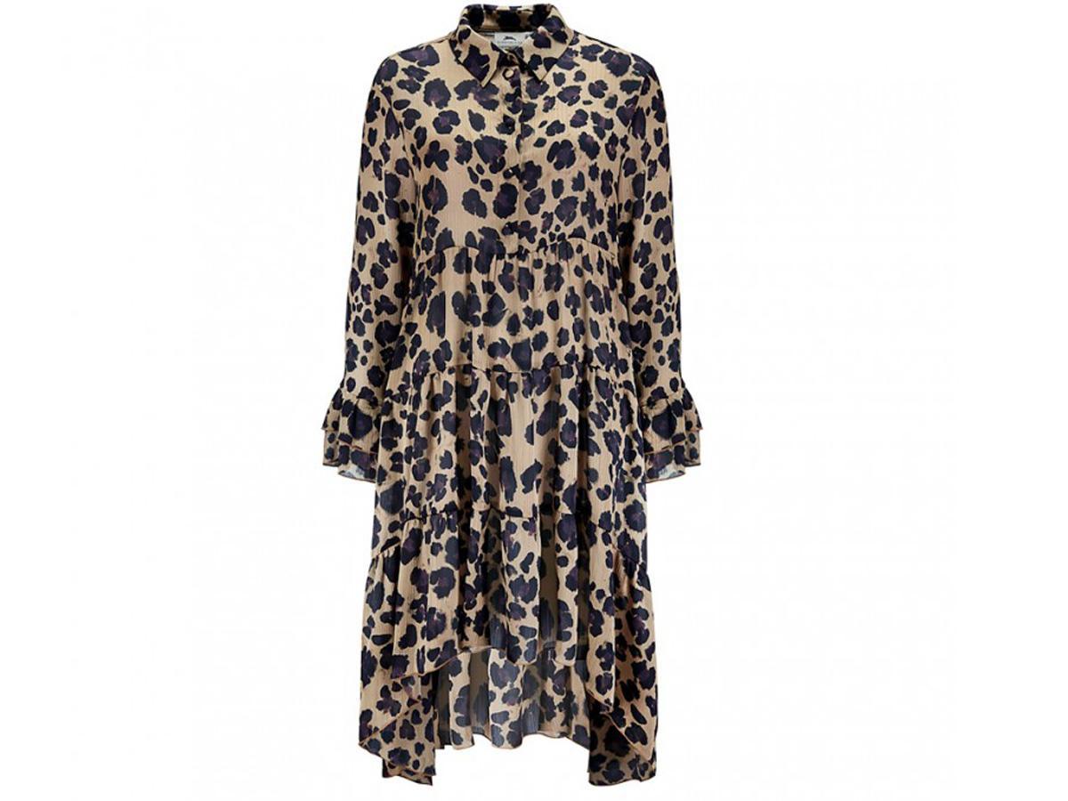 sukienka w panterkę Bizuu