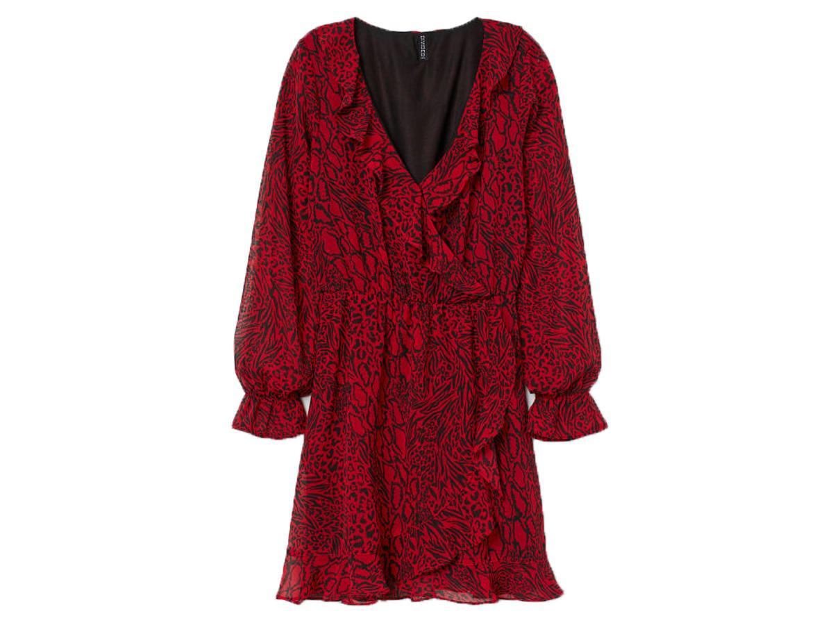 sukienka w panterkę H&M