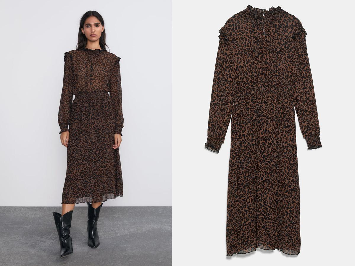 sukienka w panterkę Zara
