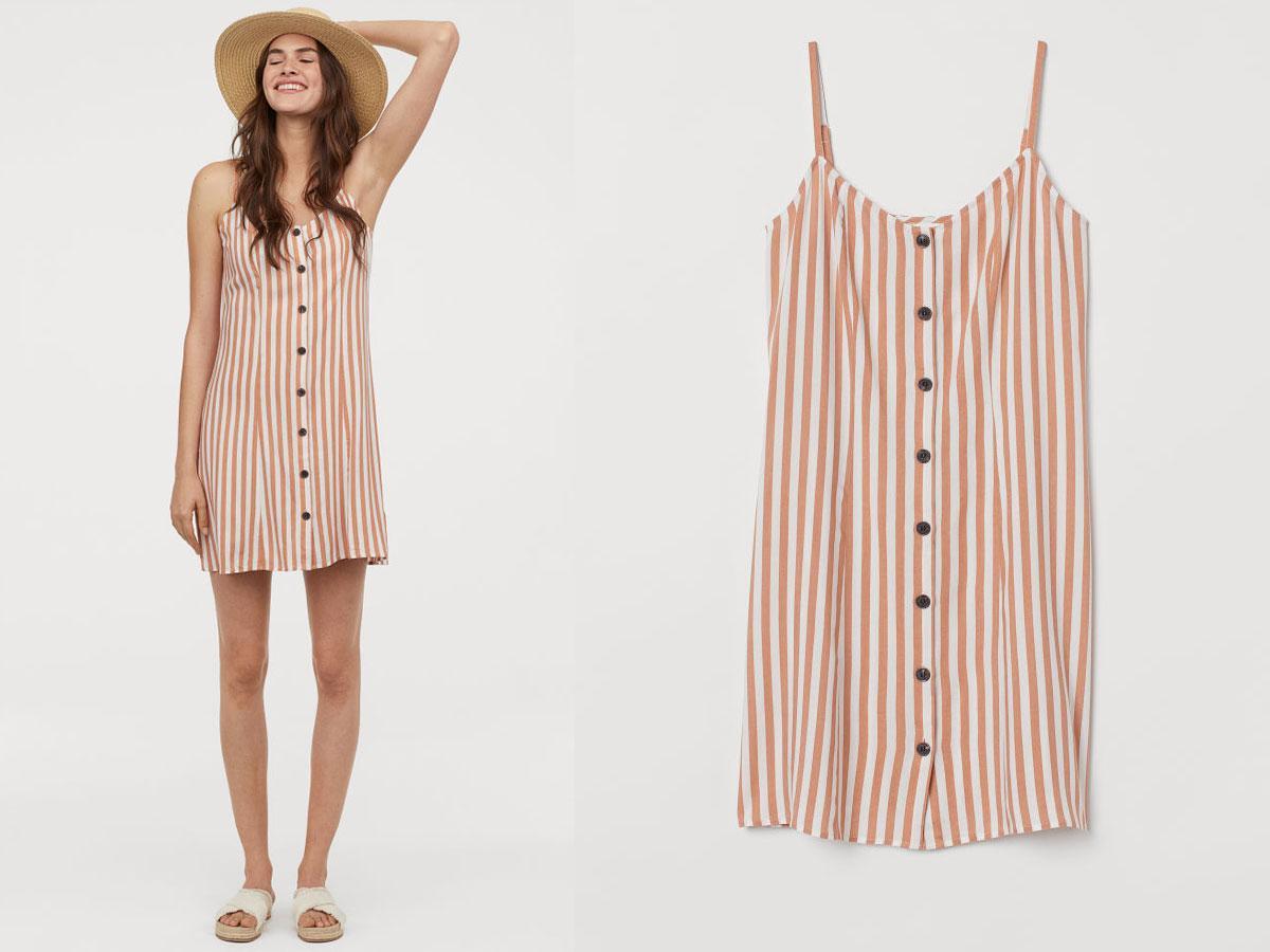 Sukienka w pionowe paski H&M