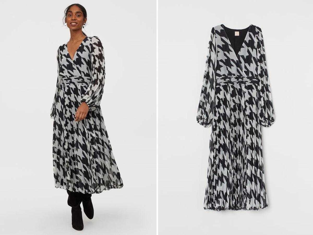 sukienka w pepitkę z H&M