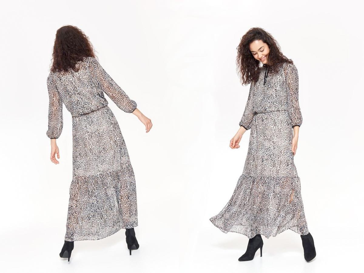Zwiewna sukienka w panterkę w stylu Krupy Top Secret 199,99 zł