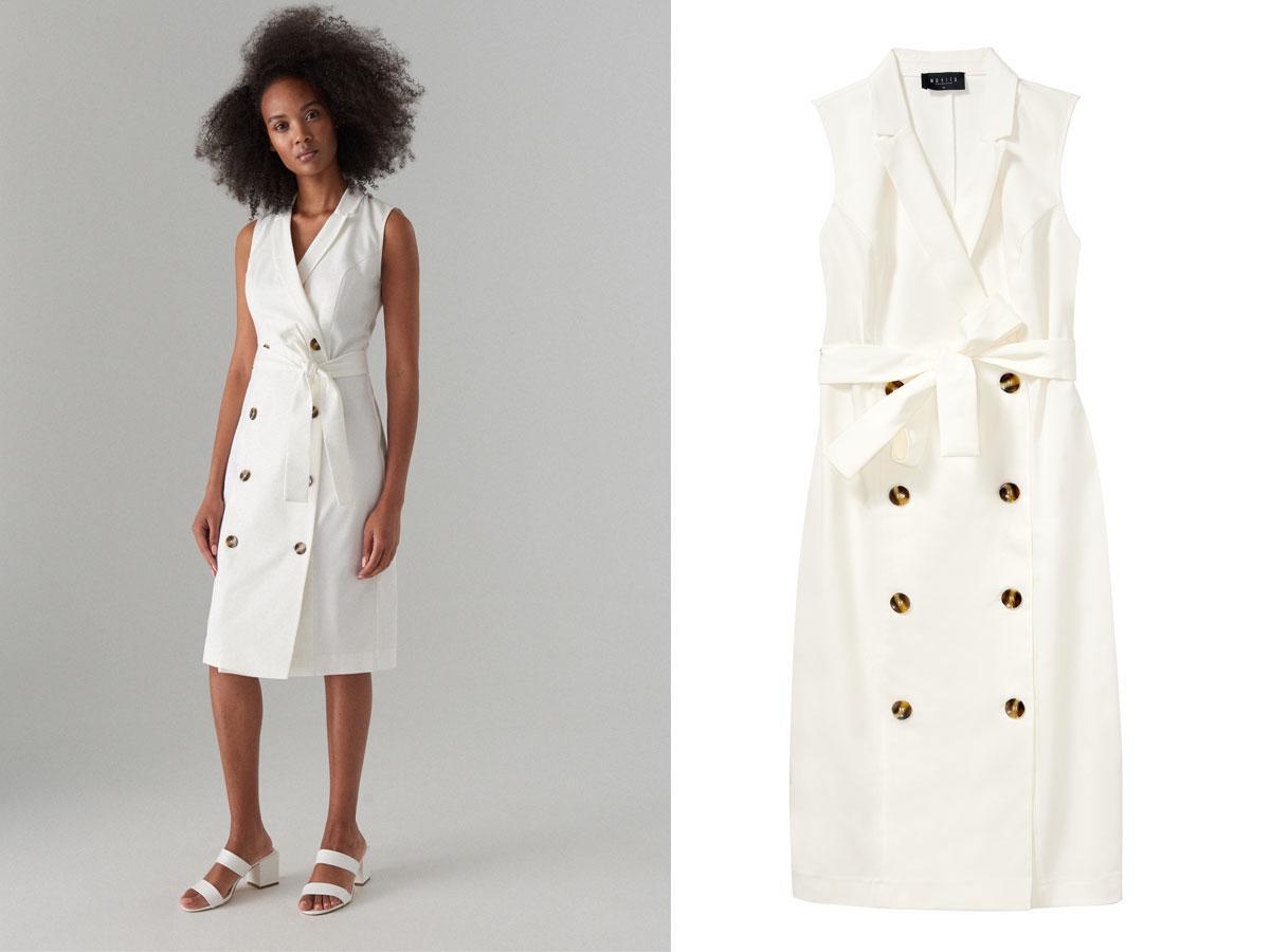 Biała sukienka z guzikami księżnej Meghan - gdzie taką kupić?