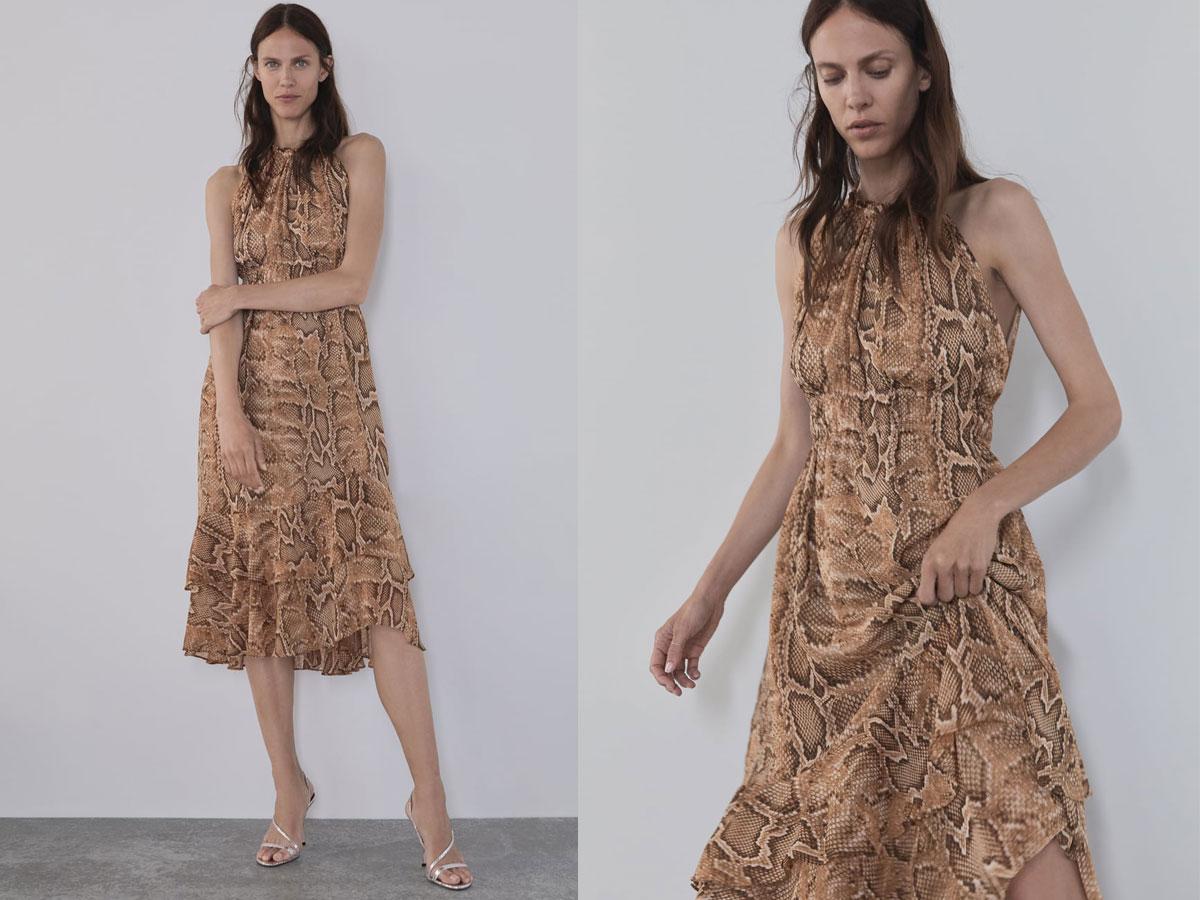 Sukienka w wężową skórę Zara