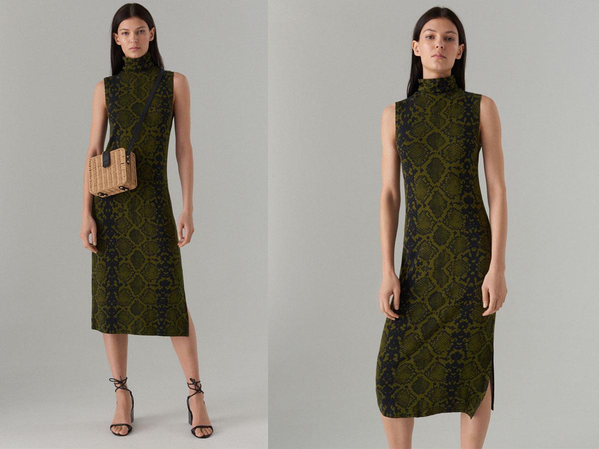 Sukienka w wężowy wzór Mohito
