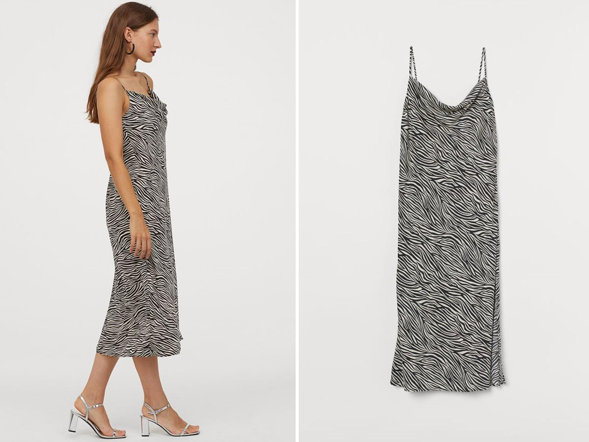 sukienka w zeberkę H&M