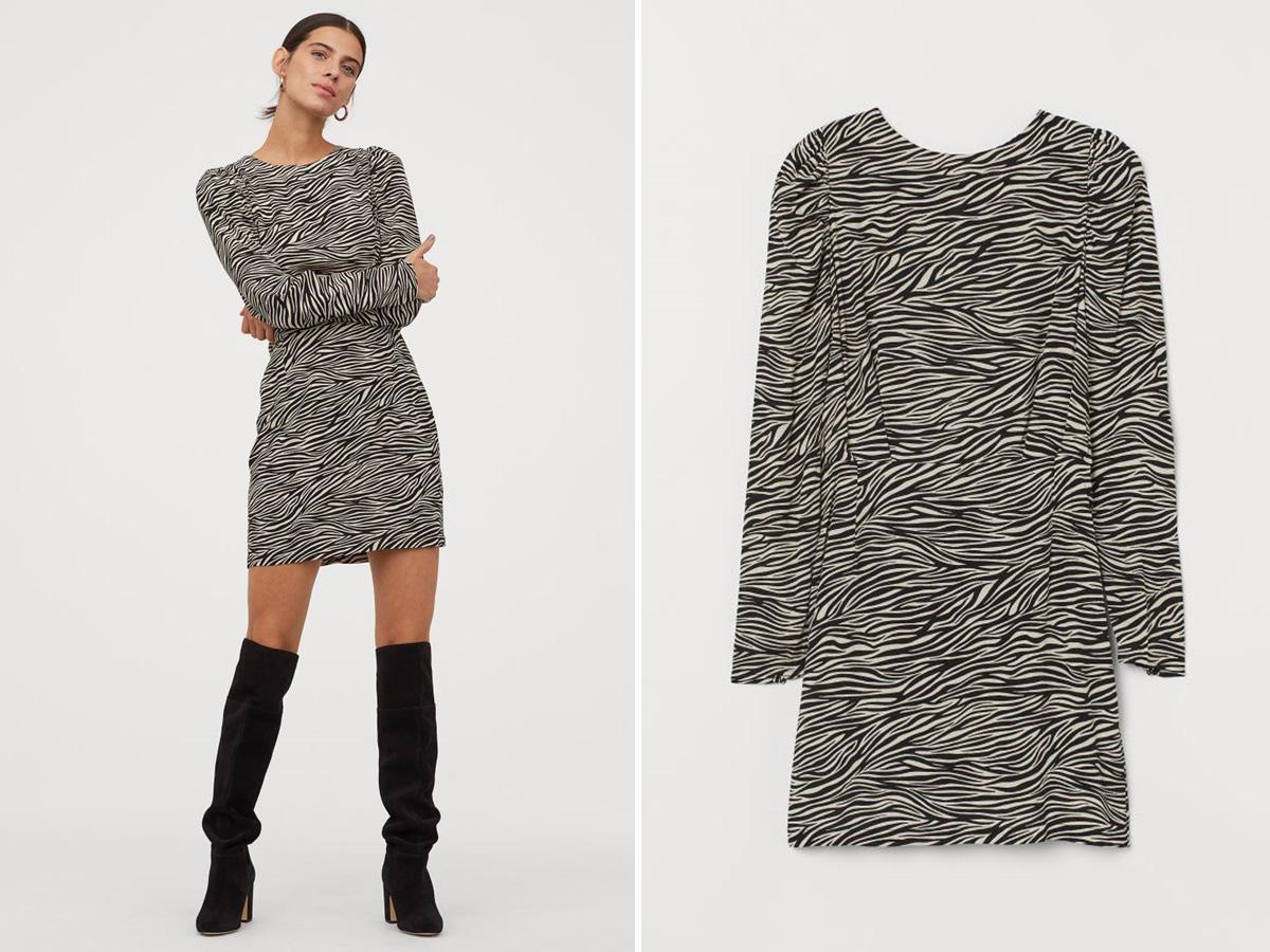 sukienka w zeberkę z H&M