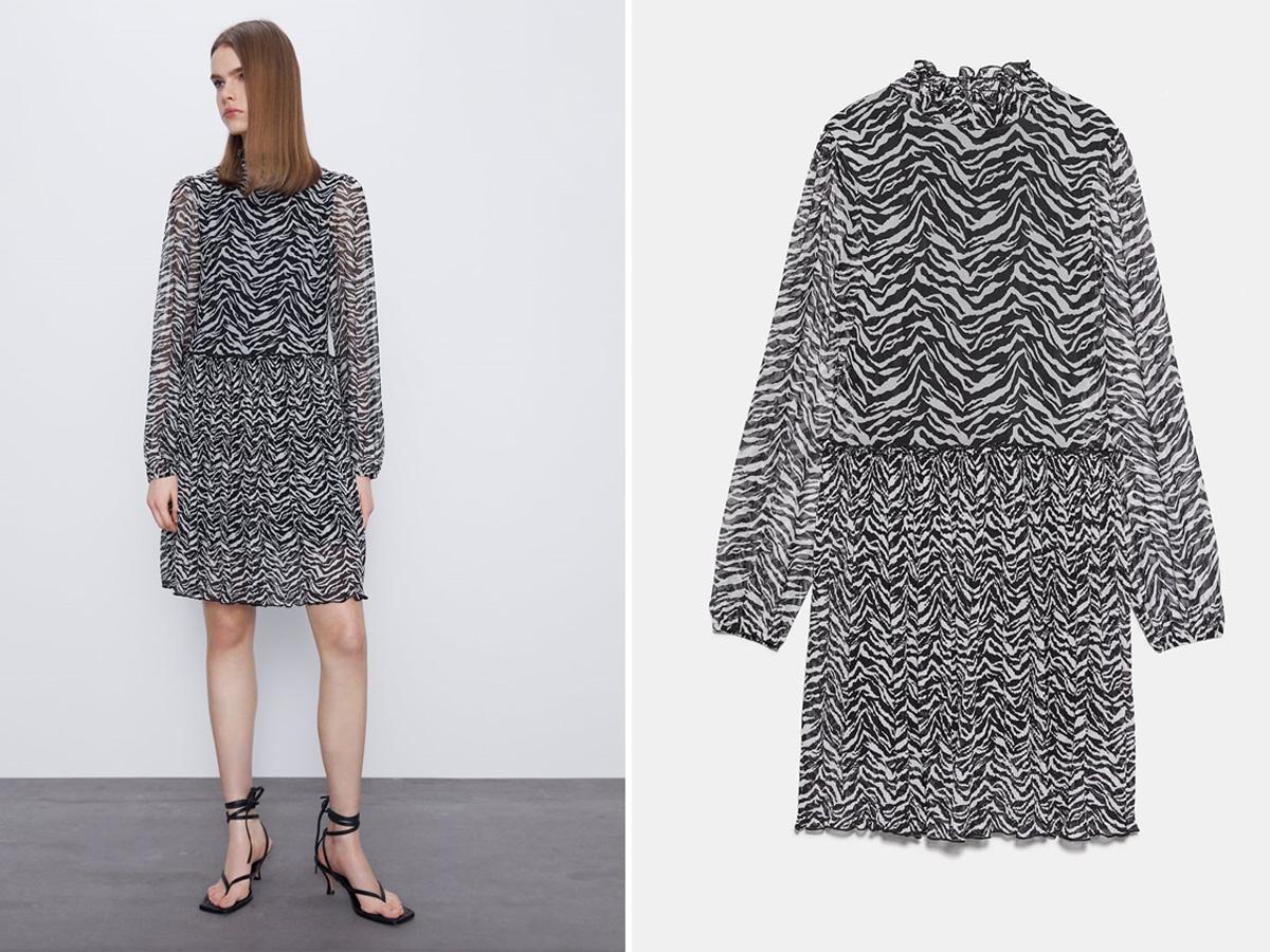 sukienka w zeberkę Zara