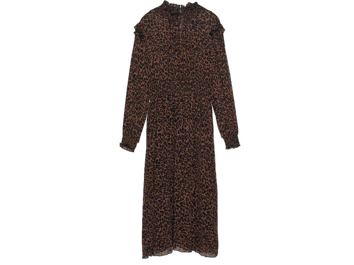 Sukienka w zwierzęcy wzór Zara