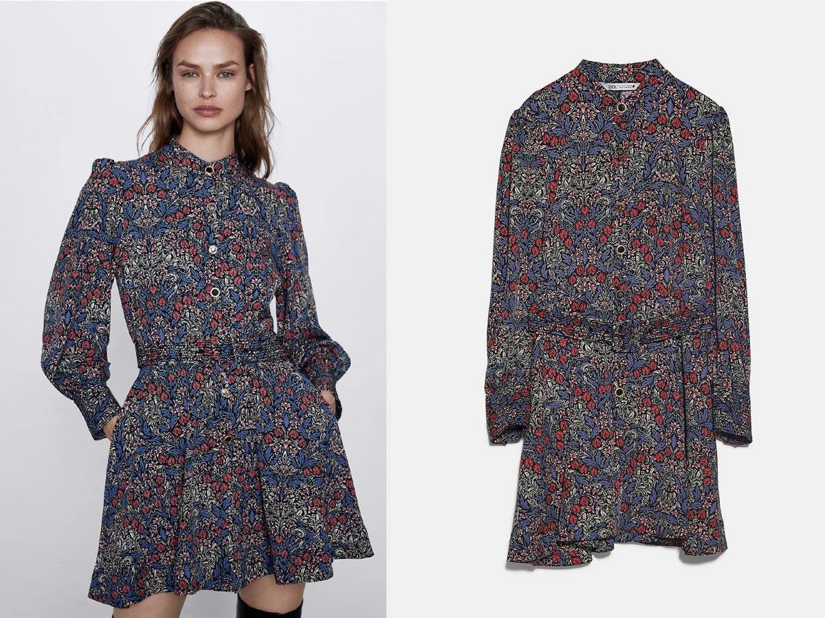 sukienka we wzory z Zary