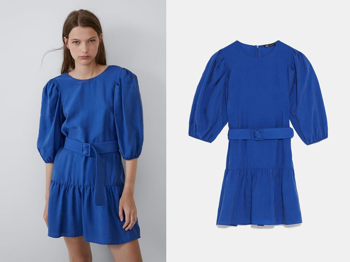 sukienka z bufkami Zara
