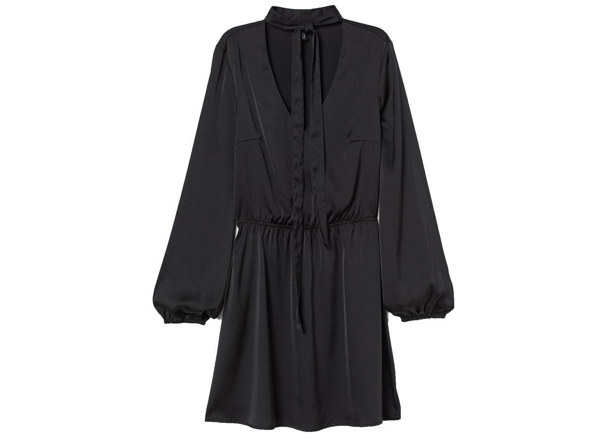sukienka z wiązaniem H&M