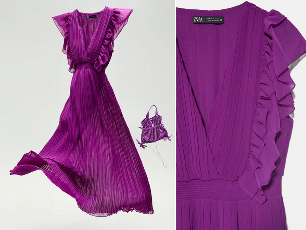 Purpurowa sukienka z Zary