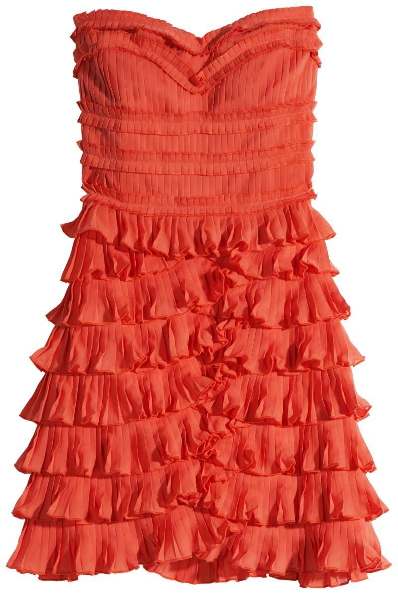 czerwona sukienka H&M - wiosna/lato 2011