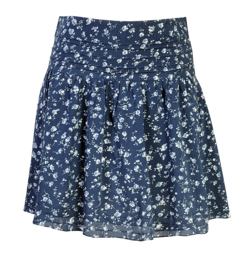 niebieska spódnica Camaieu - wiosna/lato 2011