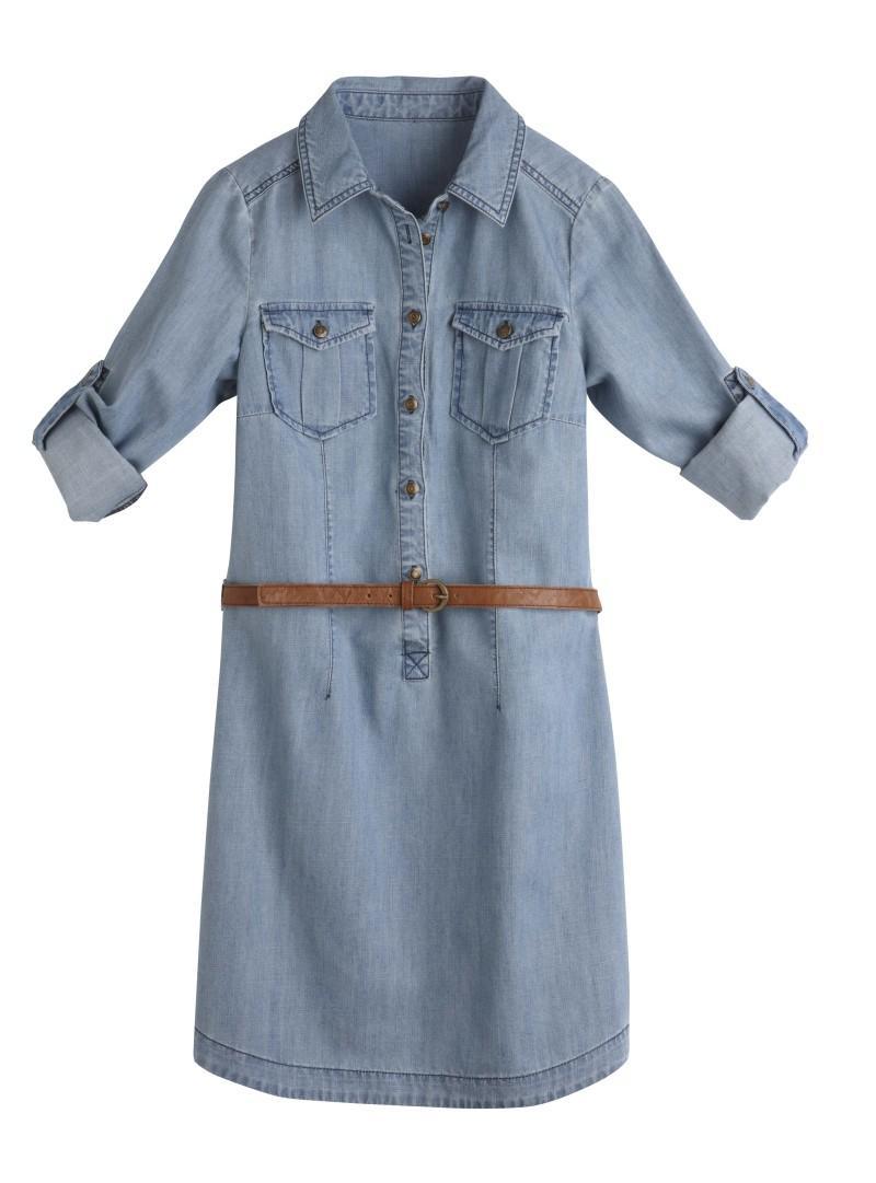 niebieska sukienka Camaieu dżinsowa - wiosna/lato 2011
