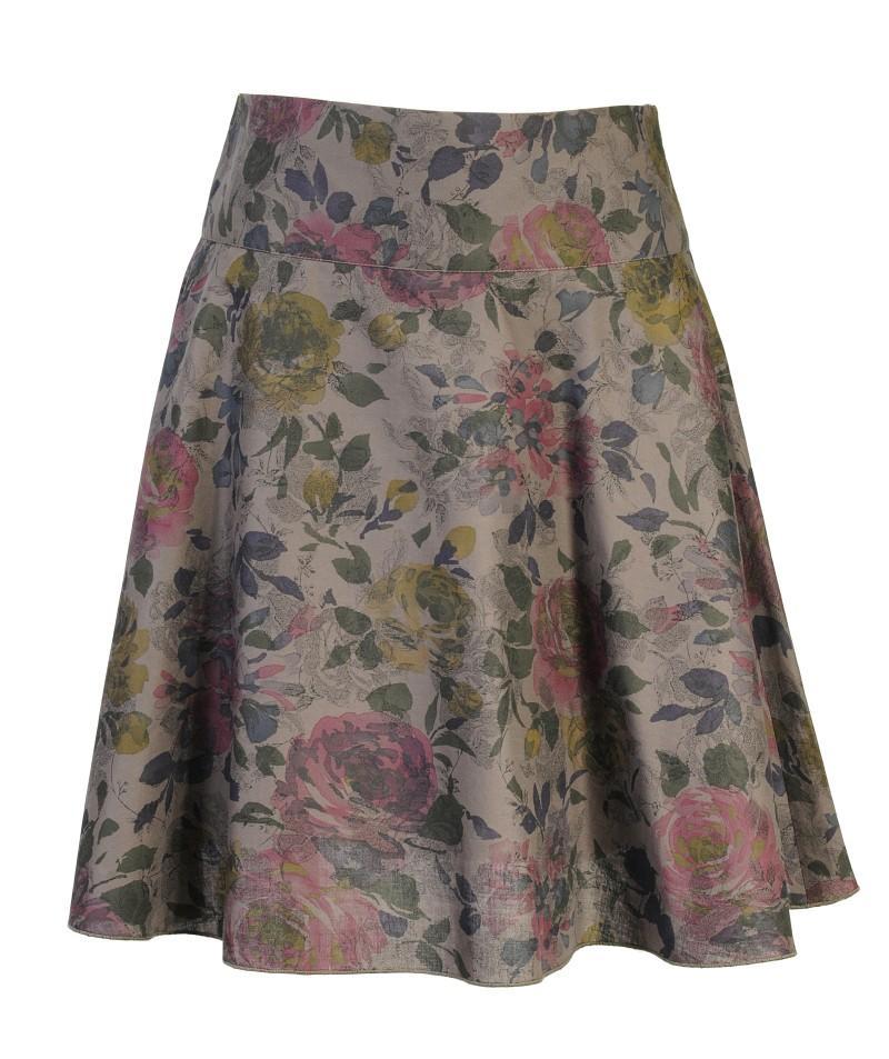 popielata spódnica Camaieu w kwiaty - wiosna/lato 2011