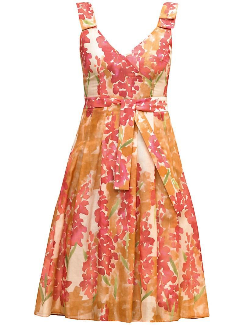 pomarańczowa sukienka Gapa Fashion w kwiaty - lato 2011