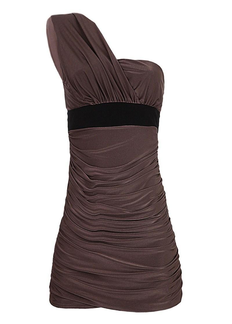 popielata sukienka Tally Weijl - moda 2011