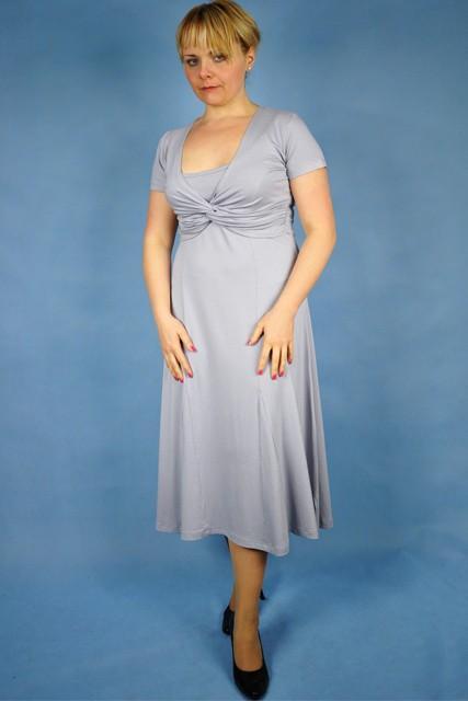 9c26e8f2b7 srebrna sukienka My Lady długości midi - Sukienki i spódnice w ...