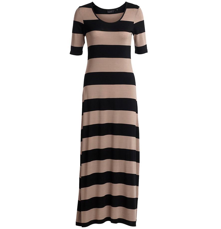 f32e9e66e0 sukienka Kappahl w pasy długa - kolekcja wiosenno letnia - Sukienki ...