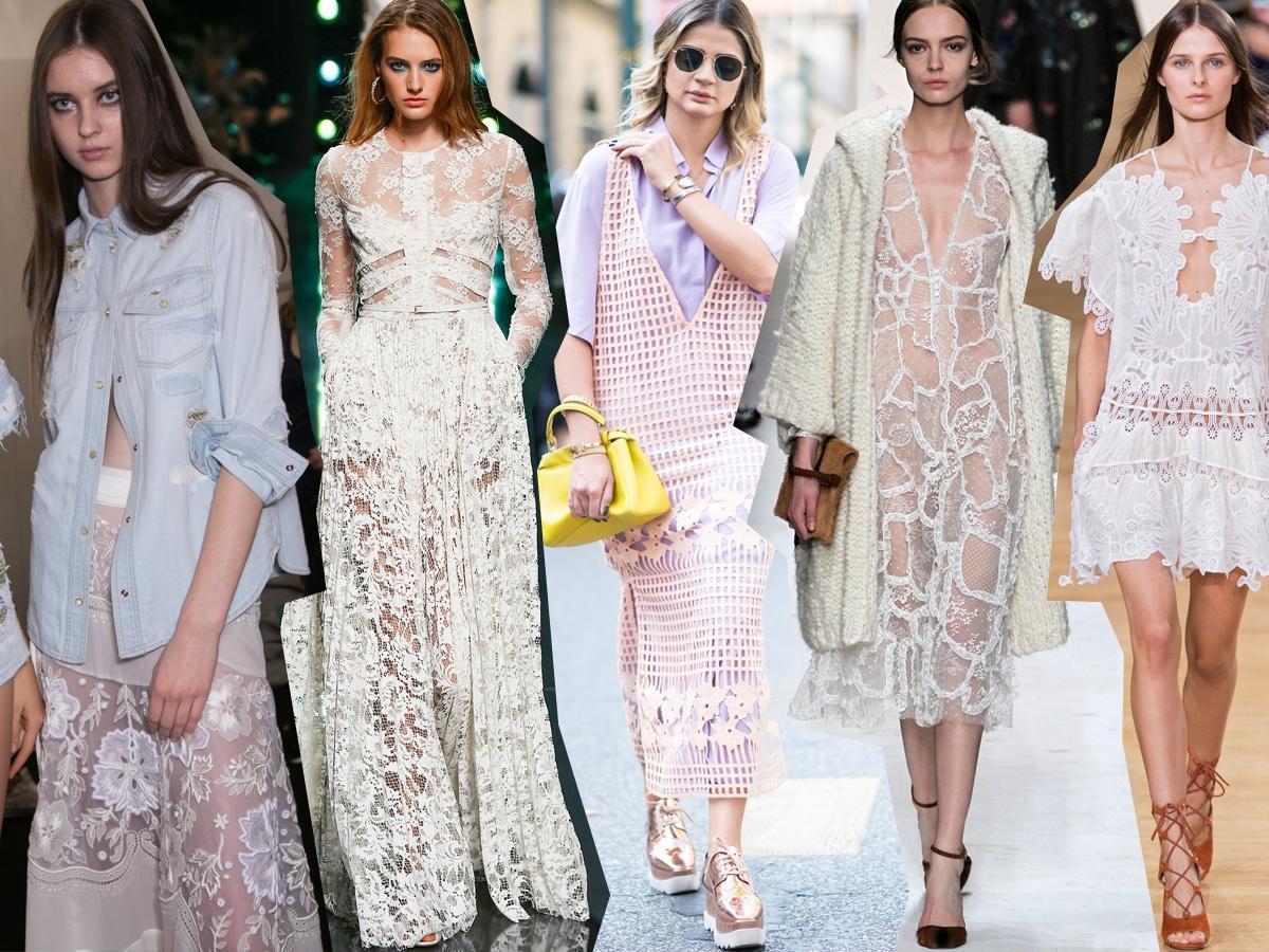 Stylizacje z sukienkami koronkowymi