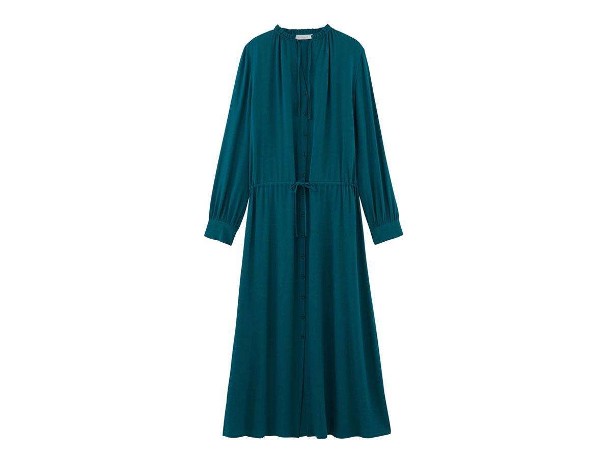 Turkusowa koszulowa sukienka, Promod, cena ok. 249,90 zł