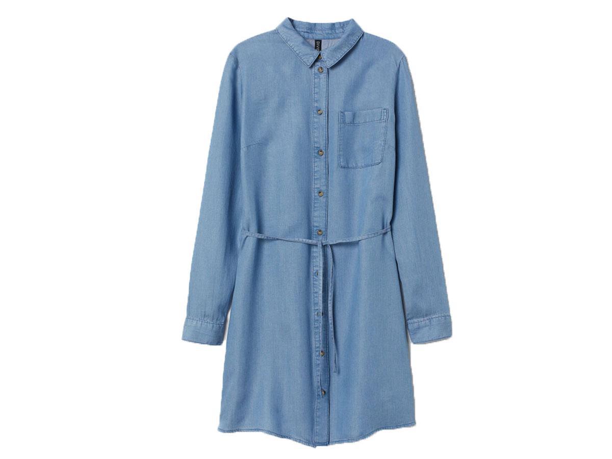 3486adcebb Dżinsowa koszulowa sukienka