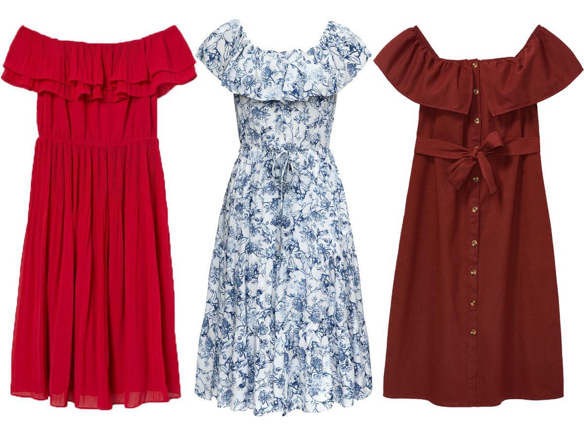 Sukienki na lato 2019: hiszpanki