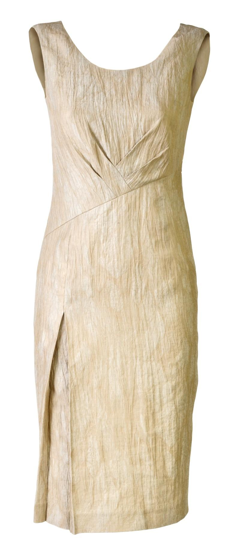 ecru sukienka Molton - moda wiosna/lato