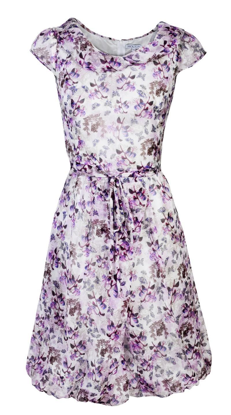fioletowa sukienka Molton w kwiaty - wiosna/lato 2011