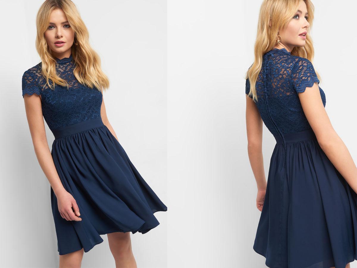 Koronkowa rozkloszowana sukienka, Orsay, cena ok. 159,99 zł
