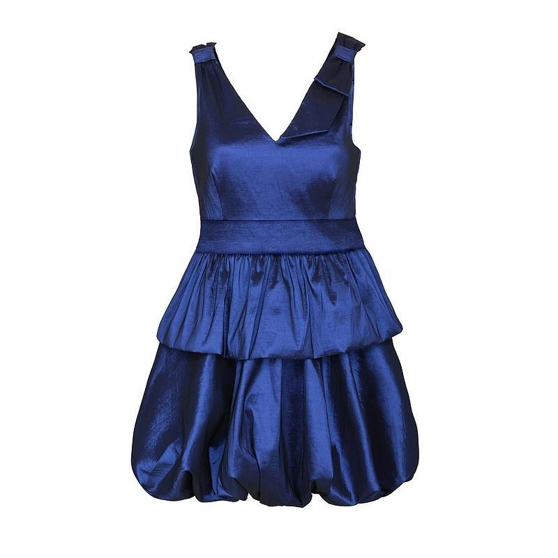niebieska sukienka Pretty Girl bombka - moda jesień/zima 2010