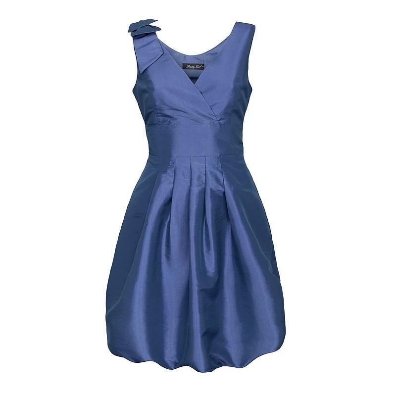 niebieska sukienka Pretty Girl satynowa - moda jesień/zima 2010