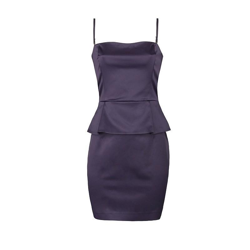 fioletowa sukienka Pretty Girl satynowa - kolekcja jesienno-zimowa