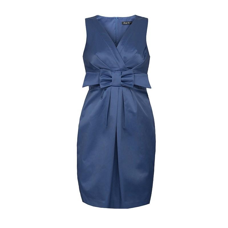 niebieska sukienka Pretty Girl z kokardą - jesień-zima 2010/2011