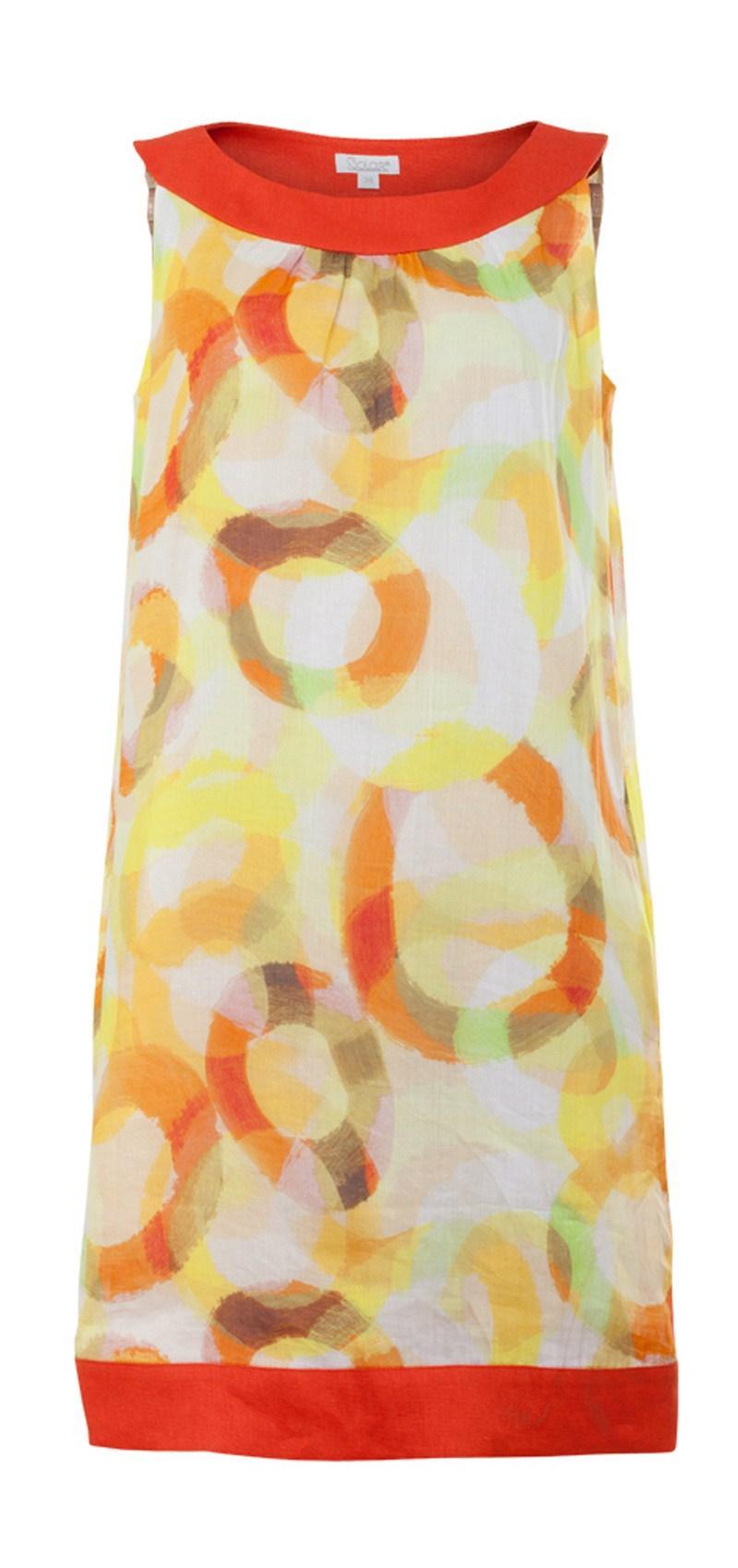 sukienka Solar we wzory w kolorze żółtym - sukienki 2013