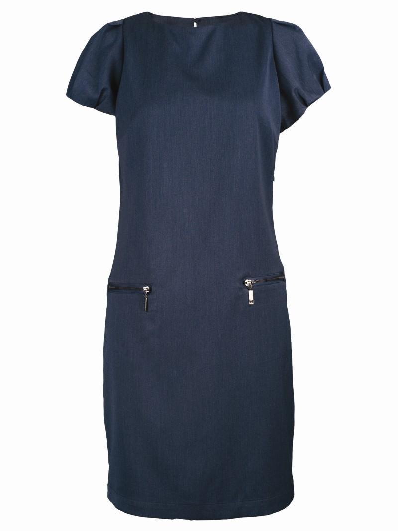 niebieska sukienka Top Secret - sezon wiosenno-letni