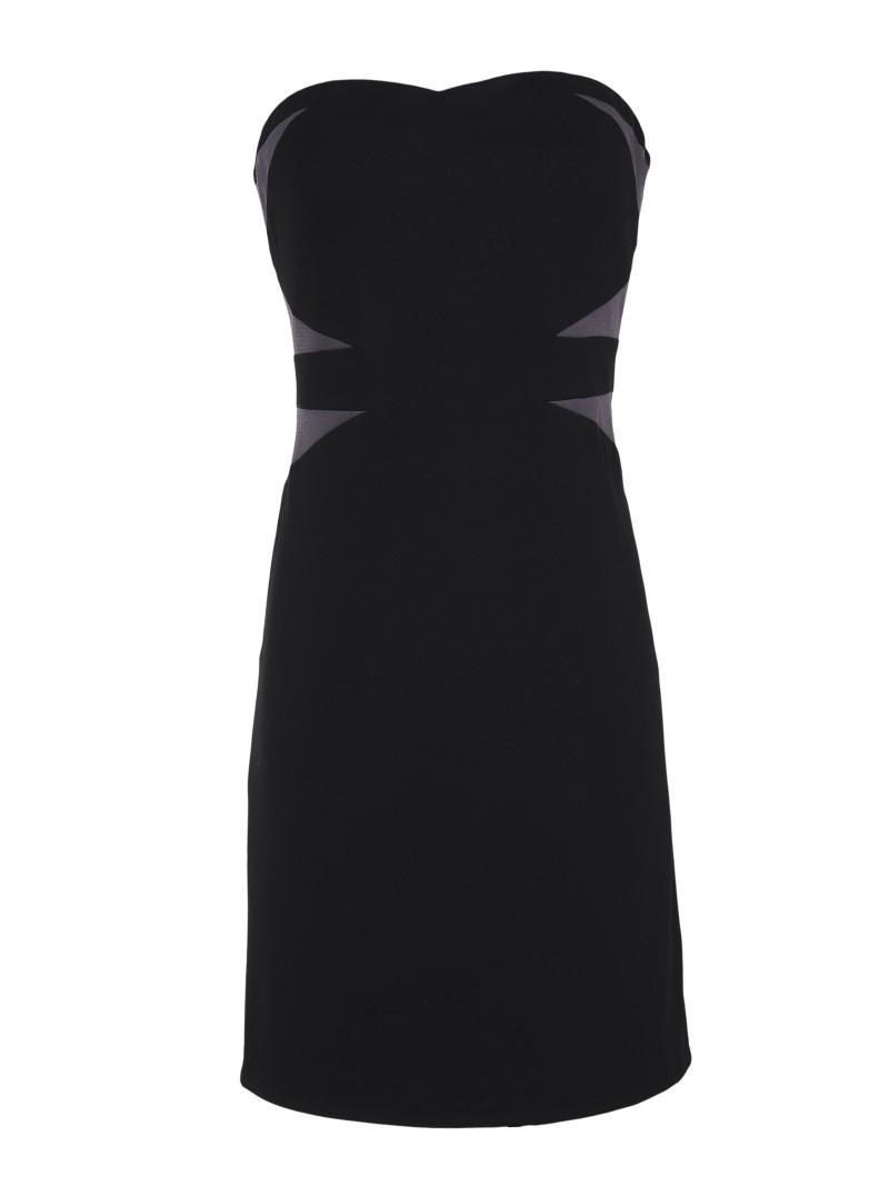 czarna sukienka Top Secret odkryte ramiona - kolekcja wiosenna